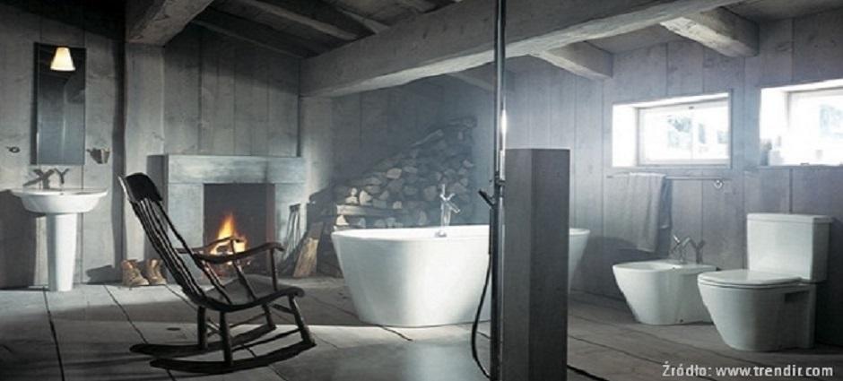 Aranżacja łazienki W Stylu Rustykalnym Wirtualne Wnętrza