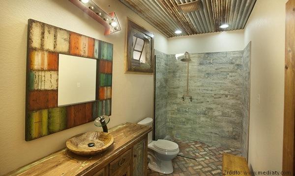 łazienki w stylu rustykalnym