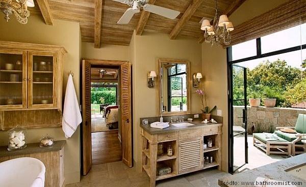 łazienki rustykalne