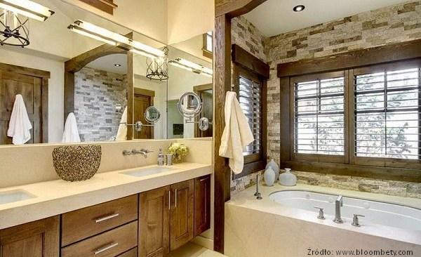 Łazienki styl rustykalny