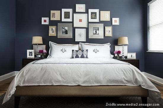 pomysł na ściane w sypialni