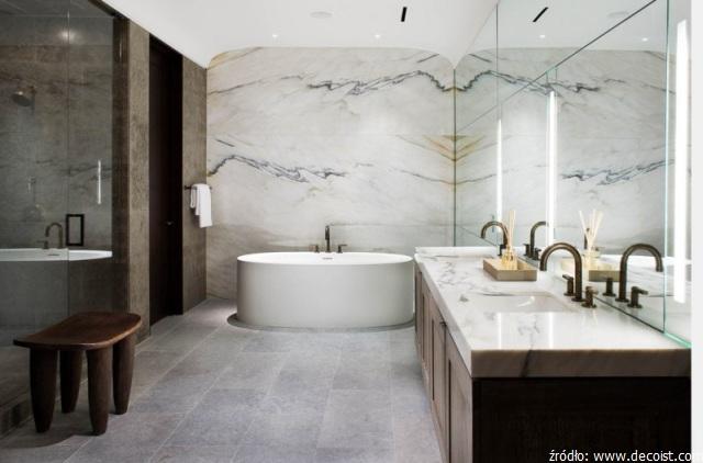marmurowy blat do łazienki