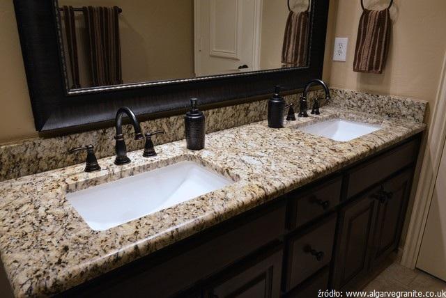 blat granitowy w łazience
