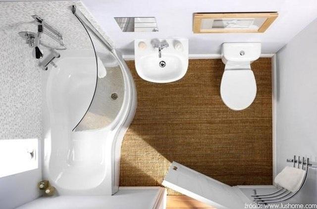małe łazienki z wanną