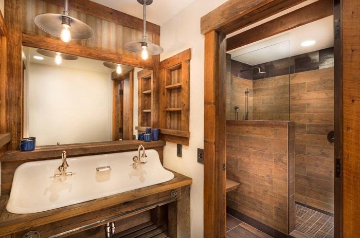 łazienka w stylu rustykalnym
