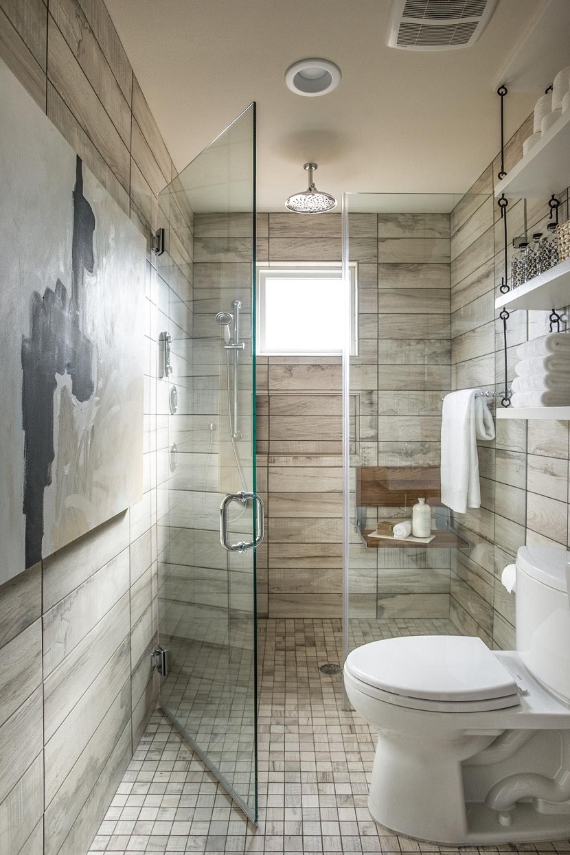 Modne Płytki łazienkowe Drewnopodobne Imitujące Beton I
