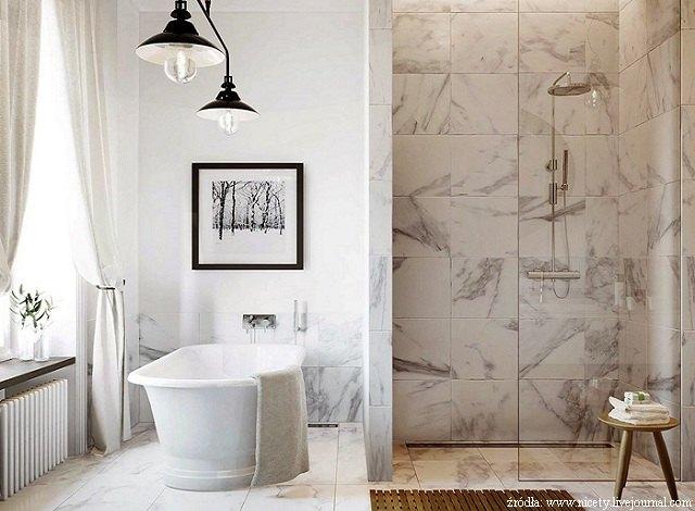jasnomarmurowa łazienka
