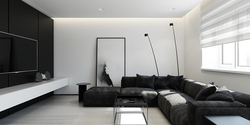 aranżacja minimalistycznego salonu