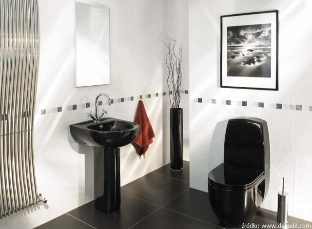 styl retro w łazience