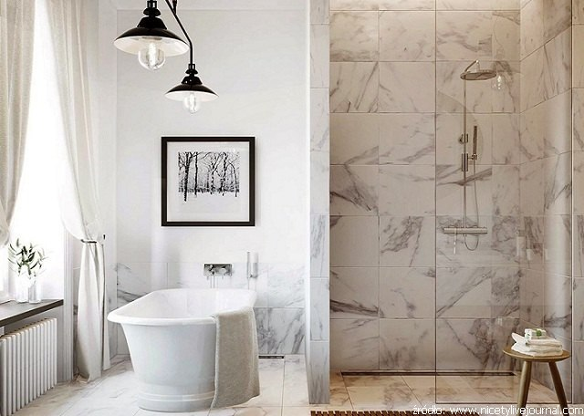 prysznic z kamienia