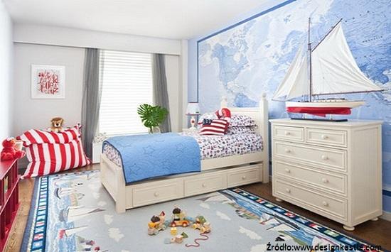 styl marynistyczny w pokoju dziecka