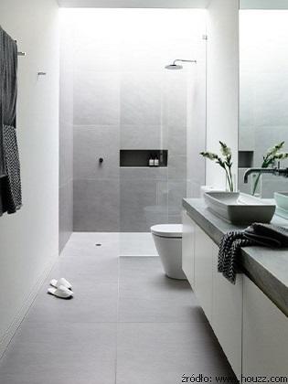 realizacja wąskiej łazienki