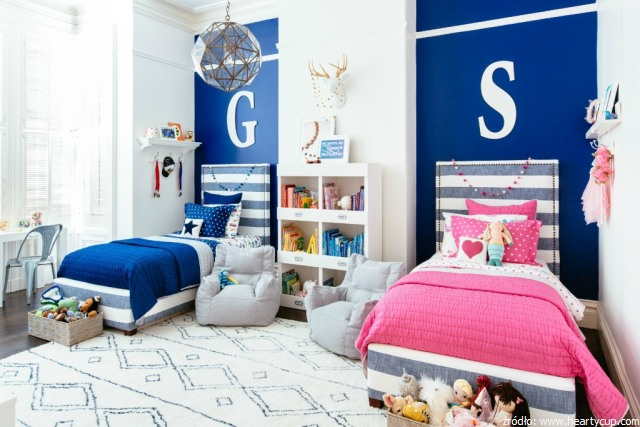 pokój dla rodzeństwa chłopca i dziewczynki
